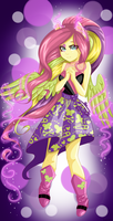 Fluttershy Rainbow Rocks by DinaKitten