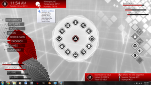 Animus Desktop (for Rainmeter) by DarthStevenus