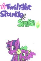 Twilight Sparkle and Spike poster by cmara