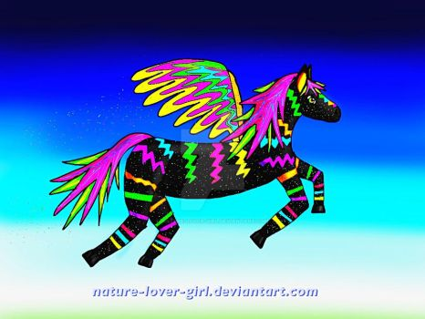 Neon Pegasus by nature-lover-girl