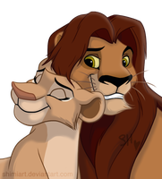 Ramani and Mitende - Zira's Parents by ShimiArt