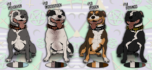 English Staffy Adoptable Auction! 1 left! by Serphire