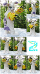 Gatomon V. 2 Cat Digimon Fursuit OOAK (by ESC) by Eternalskyy