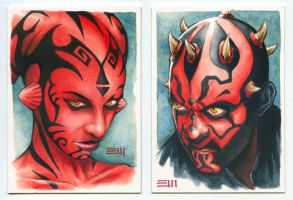 Darths Talon and Maul by Erik-Maell