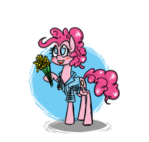 Pinkie Flowers for you! by DrHikari