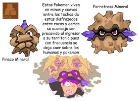Pokemon Variante-(022) Pineco-Forretress