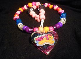 Scootaloo Resin Kandi Necklace by Lutrasaura