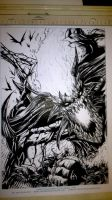 Inking Process Lobo Hell 2 by DaveLungArt