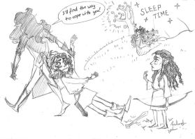 Silmarillion sketch - Fingon must go to bed 2 of 2 by MeganeSaikoCaptains
