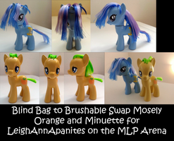 Mosely Orange and Minuette Custom Ponies by JwalsShop