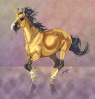 Galloping Dun Unicorn Version by sighthoundlady