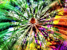 Psychodelic Palm Tree Texture Design by DonnaMarie113
