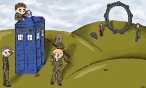 Doctor Who vs Stargate SG1 by RevenantTheory