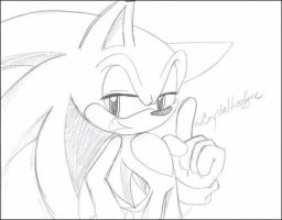 random Sonic sketch by Crystalhedgie