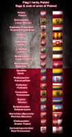 flags and coat of arms of Poland by Kristo1594