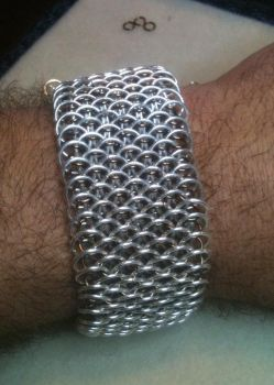 Wide Dragonscale Unisex Bracelet Cuff by Grovel4Chains