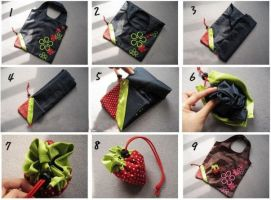 Strawberry Tote Bag by egyptianruin