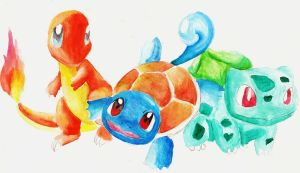 Three Original Starters by FirestarEspeon