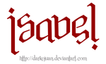 Isabel Ambigram by DarkoJuan