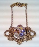 Filigree Steampunk Necklace G by SteamDesigns
