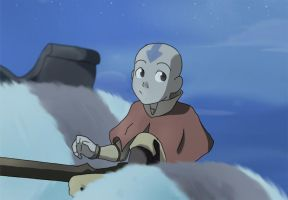 Avatar Aang by chocolatecherry