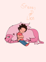 Steven and Lion by Helkie-three
