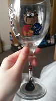 Dangermouse Painted Glass by SpottyBulboid