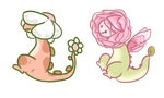 Flower Dino Auction - open by OfficerMittens