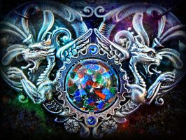 Celestial Cathedral Pendant by ArtByStarlaMoore
