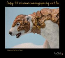 Creating a 1:12 scale armoured bear #17 by Pajutee