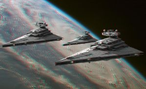 Emperial Fleet 3-D conversion by MVRamsey