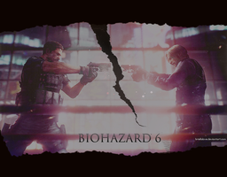 Resident Evil 6 Chris vs Leon Wallpaper by BriellaLove