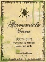 Acromantula Venom Potion Label by pigtailgoddess