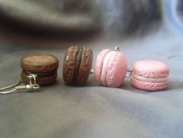 Small macarons earrings by Aewin