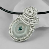 Sterling Silver and Solar Quartz Necklace by sylva