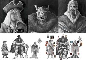 a different kind of character design-face/line up by yen-wen-hsieh