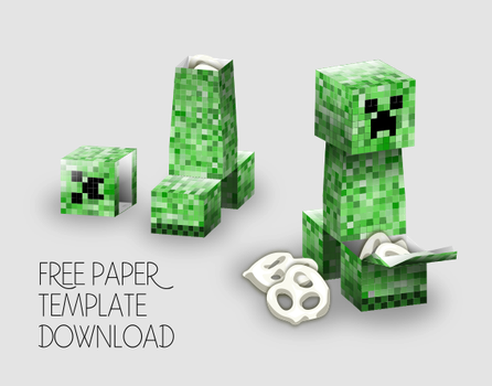 Minecraft Creeper Template Instructions by Gaddia