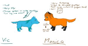 Vic and Monica reff sheet by dorumon210