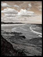 Sepia Beach by evilneedscandy