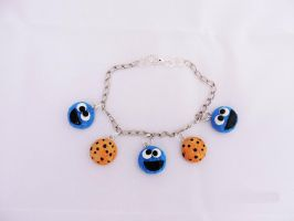 Cookie Monster charm bracelet by Saloscraftshop