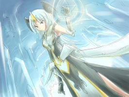 Sketch. Ice Mage by mysticswordsman21
