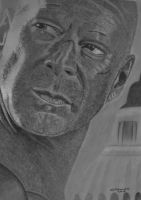 bruce willis by shirls-art