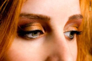 Golden Autumn Eyes Make Up by Andrei-Mischievous