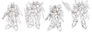 Mecha drawings by Serio555