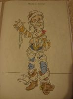 Woody as a Mummy coloring page by spidyphan2