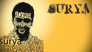 Surya in Typography by veeradesigns
