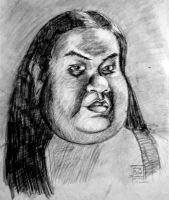 BW Self Portrait- Caricature by pinaypenciler
