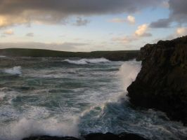 Kilkee cliffs by Aireimladiel