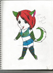 my chibi colored and detailed by ScarlettSHERShadow