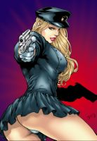 lady blackhawk by Ed Benes by tony058